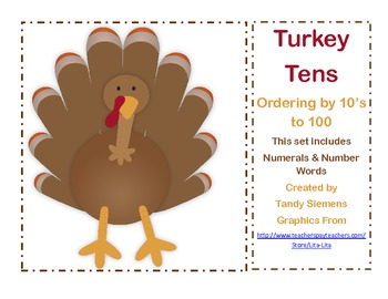 Turkey Tens Ordering Numbers And Counting By 10's