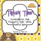 Turkey Time Kindergarten Sight Word Game