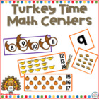 Turkey Time Math Centers for Kindergarten