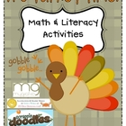 Turkey Time Math &amp; Literacy Centers