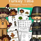 Turkey Time Math, Literacy and Art Fun