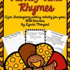 Turkey Time Rhymes- A Thanksgiving Poetry Activity