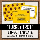 """Turkey Trot"" Bingo Game Template"