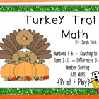 Turkey Trot Math - PreK, Kindergarten, First