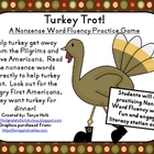 Turkey Trot! Nonsense Word Fluency Practice Game