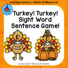 Turkey Turkey Sight Word Sentences