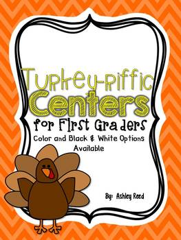 Turkeyriffic Centers for First Graders {ELA and Math}