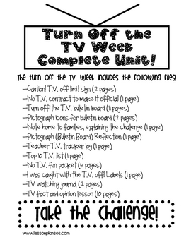Turn Off The T.V. Week Challenge: Are Your Students Ready?