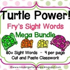 Sight Word Worksheets : Turtle Power Bundle : 80+ Words!