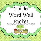 Turtle Word Wall Packet