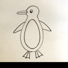 Tutorial movie, How to Draw  a Simple Penguin