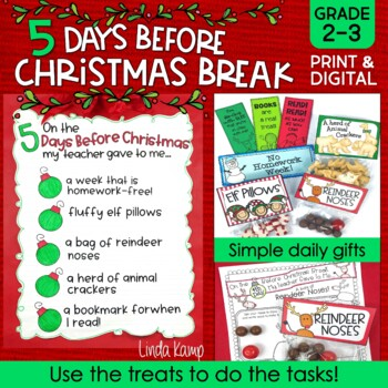 The 5 Days Before Christmas Break Printables/Activity Booklet/Gifts