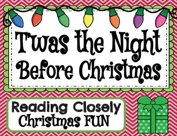 T'was The Night Before Christmas (Guided Reading & Close Reading Pack)