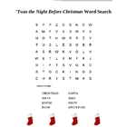 Twas the Night Before Christmas Word Search for Grades 2 T
