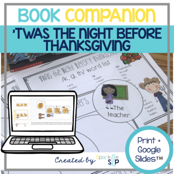 Twas the Night Before Thanksgiving Speech and Language Book Companion