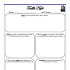 """Twelfth Night"" Chapter / Act Response Graphic Organizer - FREE"