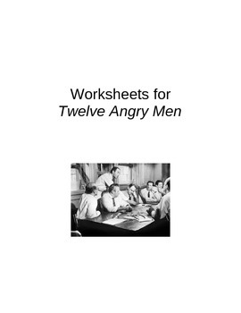 Twelve Angry Men Worksheets
