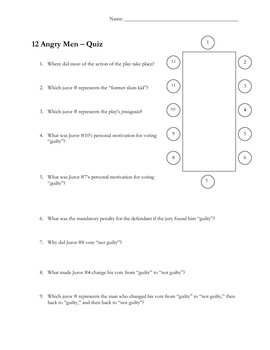 Twelve Angry Men film quiz