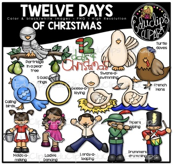 Twelve Days of Christmas Clip Art Bundle