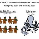 Two Bundled Common Core Center Games - Multiply By Eight a