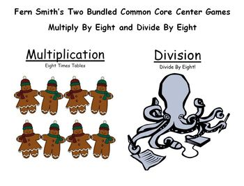Multiply By Eight and Divide By Eight Bundled Center Games