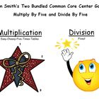 Two Bundled Common Core Center Games - Multiply By Five an