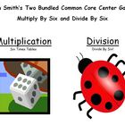 Two Bundled Common Core Center Games - Multiply By Six and