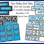 Two Calendar Sets - Polka Dot Theme