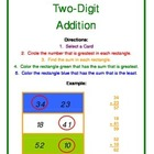 Two Digit Addition Math Center Activity