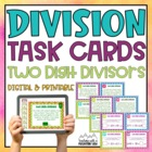 Two Digit Divisor Division Task Cards { With &amp; Without Rem
