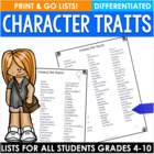 Two Leveled Character Trait Lists