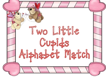 Two Little Cupids Alphabet Matching Game