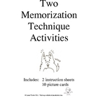 Two Memorization Technique Activities