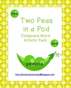 Two Peas in a Pod Compound Words