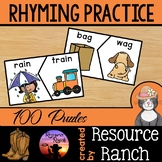 Two-Piece Rhyming PUZZLES w/assessment [72]
