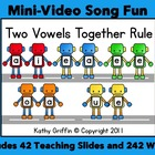 Two Vowels Together Rule for the Smart Board, IWB,  or Computer