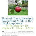 Types of Chemical Reactions PowerPoint & Fill-in-the-blank