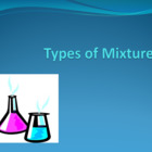 Types of Mixtures PowerPoint for Chemistry or Physical Science