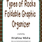 Types of Rocks Foldable Graphic Organizer