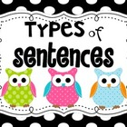 Types of SENTENCES OWL posters