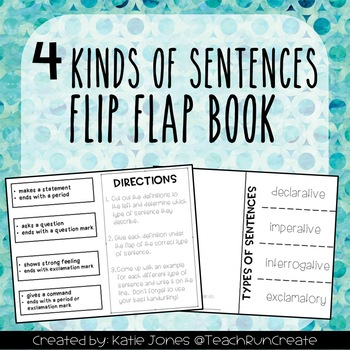 Types of Sentences Double-Sided Flip Book