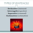 Types of Sentences Power Point with quiz