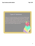 Types of Sentences Smart Notebook Lesson for Smartboards