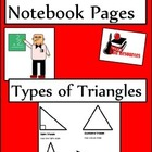 Types of Triangles Lesson for Interactive Math Notebooks