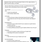 Types of Weather Informational Report Writing Sheets, 12 P