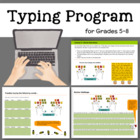 Typing Program for Grades 5-8 by Computer Teacher Solutions