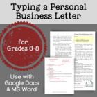 Typing a Personal Business Letter (Gr. 6-8): A Microsoft W