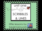 unit 1 SCRIBBLES & LINES - little lessons by Karen Smullen