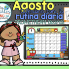 UPDATED!! ACTIVBOARD Calendar Math-AGOSTO (Spanish)