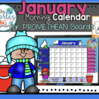 UPDATED!! ACTIVBOARD Calendar Math- January (English)